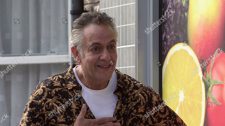 Coronation Street - Ep 10455 Wednesday 13th October 2021 - 2nd Ep Bernie Winter laughs her head off as Dev Alahan, as played by Jimmi Harkishin, flirts with Natasha Blakeman and asks her out, only to be turned down flat and told he's got the wrong end of the stick.