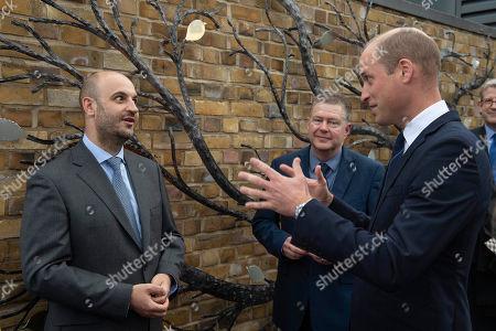Prince William chats to Trustee Antonio Orlando