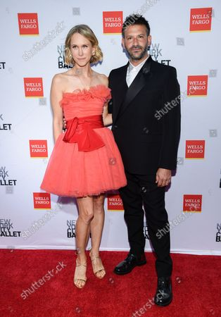 Indre Rockefeller, left, and Paul Arnhold attend the New York City Ballet Fall Fashion Gala at the David H. Koch Theater at Lincoln Center, in New York