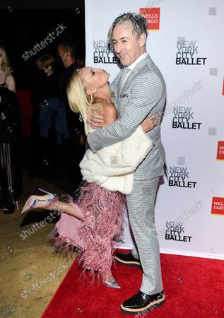Actors Kristin Chenoweth, left, and Alan Cumming attend the New York City Ballet Fall Fashion Gala at the David H. Koch Theater at Lincoln Center, in New York