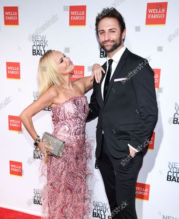 Actress Kristin Chenoweth, left, and boyfriend Josh Bryant attend the New York City Ballet Fall Fashion Gala at the David H. Koch Theater at Lincoln Center, in New York