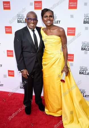 Television journalists Al Roker, left, and wife Deborah Roberts attend the New York City Ballet Fall Fashion Gala at the David H. Koch Theater at Lincoln Center, in New York