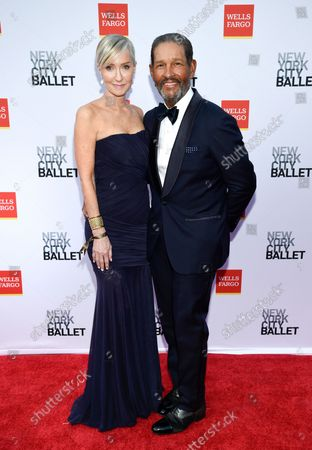 Television journalist Bryant Gumbel, right, and wife Hilary Quinlan attend the New York City Ballet Fall Fashion Gala at the David H. Koch Theater at Lincoln Center, in New York