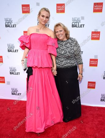 Actress Diane Kruger, left, and her mother Maria-Theresa Heidkruger attend the New York City Ballet Fall Fashion Gala at the David H. Koch Theater at Lincoln Center, in New York