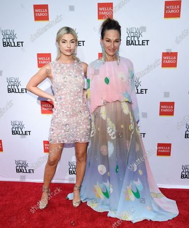 Fashion designer Cynthia Rowley, right, and daughter Kit Keenan attend the New York City Ballet Fall Fashion Gala at the David H. Koch Theater at Lincoln Center, in New York