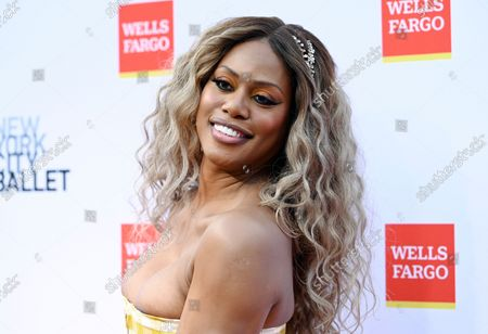 Stock Picture of Actress Laverne Cox attends the New York City Ballet Fall Fashion Gala at the David H. Koch Theater at Lincoln Center, in New York