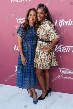 Stock Image of Warner Bros. Television Group Chairman Channing Dungey and US actress Merrin Dungey attend the Variety's 2021 Power of Women event at the Wallis Annenberg Center in Beverly Hills, California, USA, 30 September 2021.