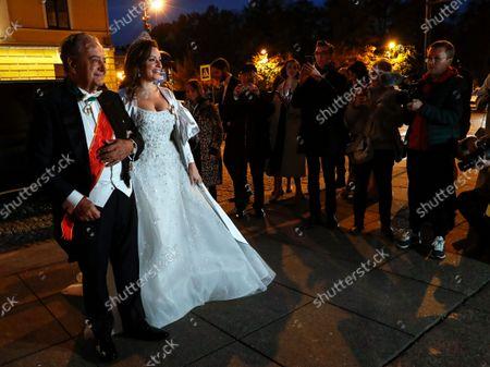 Editorial picture of George Mikhailovich Romanov and Victoria Romanovna Bettarini wedding, St Petersburg, Russian Federation - 01 Oct 2021