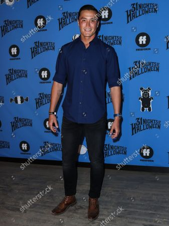 John Hersey arrives at the Freeform 'Halloween Road' Talent And Press Preview Night held at the Heritage Square Museum on September 30, 2021 in Los Angeles, California, United States.