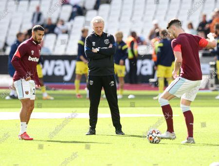 West Ham manager David Moyes during the warm up