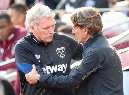 West Ham manager David Moyes and Brentford manager Thomas Frank