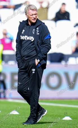 West Ham manager David Moyes before the start of the match
