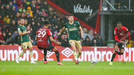 John Egan of Sheffield United & Philip Billing of AFC Bournemouth (L)