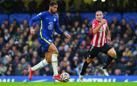 Ruben Loftus-Cheek of Chelsea chased by Oriol Romeu of Southampton