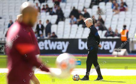 Stock Photo of West Ham Warm up David Moyes - Manager of West Ham