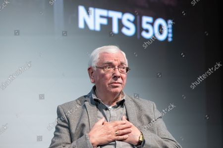 """Director Terence Davies speaks with BFI CEO Ben Roberts during a Q&A after a screening for """"Of Time And The City"""" at BFI Southbank, part of NFTS's 50th anniversary celebration"""