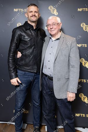 """Director Terence Davies (R) and BFI CEO Ben Roberts pose for a photo after a screening for """"Of Time And The City"""" at BFI Southbank, part of NFTS's 50th anniversary celebration"""