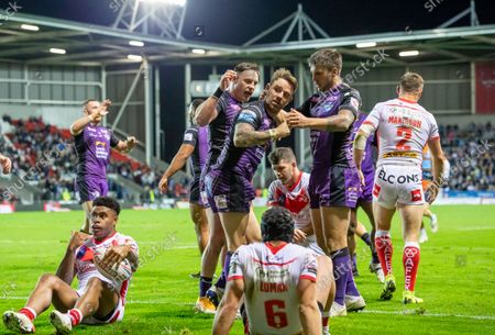 Editorial picture of St Helens v Leeds Rhinos. St Helens, UK - 01 Oct 2021