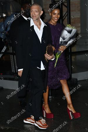 Stock Picture of Vincent Cassel and Tina Kunakey di Vita