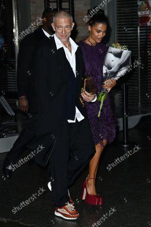 Stock Photo of Vincent Cassel and Tina Kunakey di Vita
