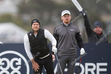 Danny Willett of England reacts to the direction of his drive from the sixteenth tee during the final round of the Alfred Dunhill Links Championship on the Old Course, St Andrews; The Old Course, St Andrews Links, Fife, Scotland; European Tour, Alfred Dunhill Links Championship, Fourth round.
