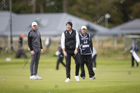 Danny Willett of England in jovial mood during the final round of the Alfred Dunhill Links Championship on the Old Course, St Andrews; The Old Course, St Andrews Links, Fife, Scotland; European Tour, Alfred Dunhill Links Championship, Fourth round.