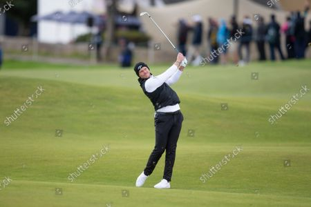 Danny Willett of England hits a shot from the fairway on the second hole of the Old Course, St Andrews during the final round of the Alfred Dunhill Links Championship; The Old Course, St Andrews Links, Fife, Scotland; European Tour, Alfred Dunhill Links Championship, Fourth round.