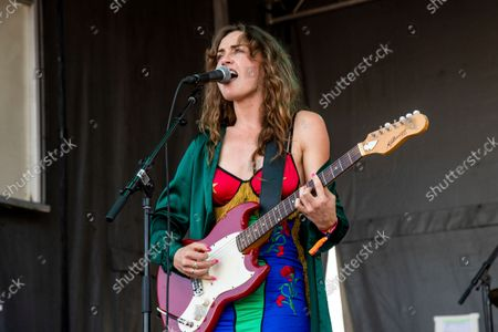 Stock Photo of Zella Day performs on day one of the Austin City Limits Music Festival's first weekend, in Austin, Texas