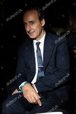 Alexandre Desplat attends the Valentino Spring-Summer 2022 ready-to-wear fashion show presented in Paris