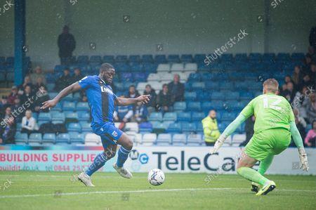 Editorial photo of Gillingham v Wigan Athletic, EFL Sky Bet League 1, 02GOAL scores 1-02021 - 02 Oct 2021