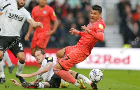 Editorial photo of Derby County v Swansea City - Sky Bet Championship - 02 Oct 2021