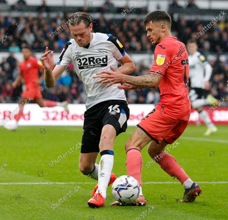 Editorial picture of Derby County v Swansea City - Sky Bet Championship - 02 Oct 2021
