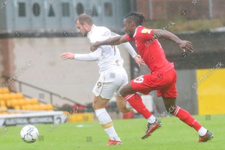 Port Vale forward James Wilson (9) on the ball during the EFL Sky Bet League 2 match between Port Vale and Leyton Orient at Vale Park, Burslem