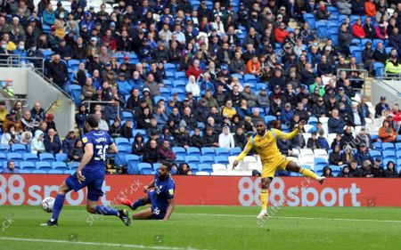 Stock Picture of Junior Hoilett of Reading FC scores the opening goal to put Reading 1-0 up