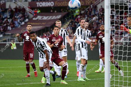 Sasa Lukic of Torino FC and Alex Sandro Juventus FC