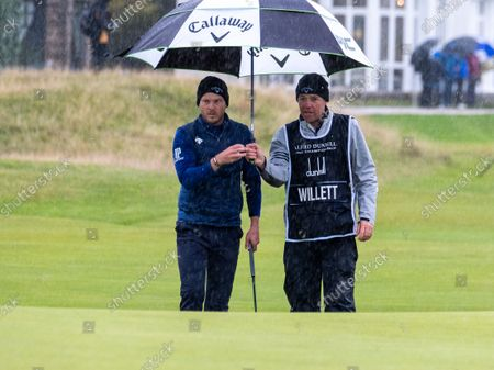 Danny Willett on the 17th, The Old Course.