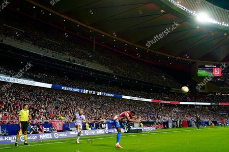 Memphis Depay of FC Barcelona and Thomas Lemar of Atletico de Madrid