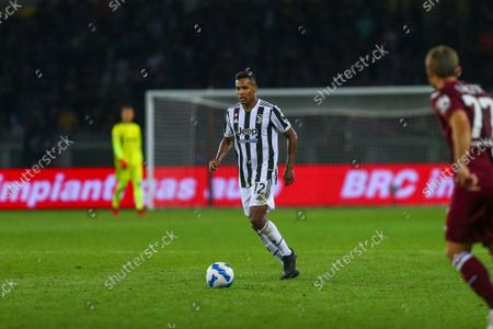 TURIN, ITALY. 02 OCTOBER 2021. Alex Sandro of Juventus FC during the Serie A match between Torino FC and Juventus FC on 23 September 2021 at Olympic Grande Torino Stadium.
