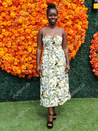 PACIFIC PALISADES, LOS ANGELES, CALIFORNIA, USA - OCTOBER 02: Camille Winbush arrives at the Veuve Clicquot Polo Classic Los Angeles 2021 held at the Will Rogers State Historic Park on October 2, 2021 in Pacific Palisades, Los Angeles, California, United States.