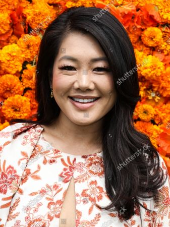 PACIFIC PALISADES, LOS ANGELES, CALIFORNIA, USA - OCTOBER 02: Crystal Kung Minkoff arrives at the Veuve Clicquot Polo Classic Los Angeles 2021 held at the Will Rogers State Historic Park on October 2, 2021 in Pacific Palisades, Los Angeles, California, United States.