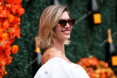 PACIFIC PALISADES, LOS ANGELES, CALIFORNIA, USA - OCTOBER 02: Photographer Delfina Blaquier arrives at the Veuve Clicquot Polo Classic Los Angeles 2021 held at the Will Rogers State Historic Park on October 2, 2021 in Pacific Palisades, Los Angeles, California, United States.