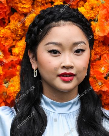PACIFIC PALISADES, LOS ANGELES, CALIFORNIA, USA - OCTOBER 02: Actress Lana Condor arrives at the Veuve Clicquot Polo Classic Los Angeles 2021 held at the Will Rogers State Historic Park on October 2, 2021 in Pacific Palisades, Los Angeles, California, United States.