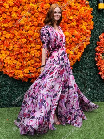 PACIFIC PALISADES, LOS ANGELES, CALIFORNIA, USA - OCTOBER 02: Actress Lydia Hearst-Shaw arrives at the Veuve Clicquot Polo Classic Los Angeles 2021 held at the Will Rogers State Historic Park on October 2, 2021 in Pacific Palisades, Los Angeles, California, United States.