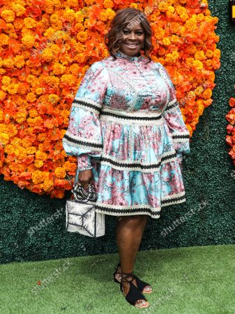 PACIFIC PALISADES, LOS ANGELES, CALIFORNIA, USA - OCTOBER 02: Comedian Retta arrives at the Veuve Clicquot Polo Classic Los Angeles 2021 held at the Will Rogers State Historic Park on October 2, 2021 in Pacific Palisades, Los Angeles, California, United States.