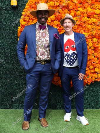 Stock Image of PACIFIC PALISADES, LOS ANGELES, CALIFORNIA, USA - OCTOBER 02: Ted Gibson and Jason Backe arrive at the Veuve Clicquot Polo Classic Los Angeles 2021 held at the Will Rogers State Historic Park on October 2, 2021 in Pacific Palisades, Los Angeles, California, United States.