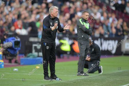 David Moyes Manager of West Ham Utd during the West Ham vs Brentford Premier League match at the London Stadium Stratford.