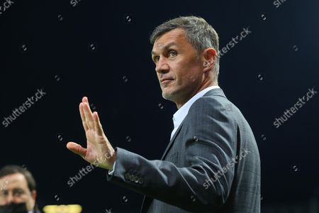 AC Milan's technical director Paolo Maldini before the Italian Serie A soccer match between Atalanta BC and AC Milan at Gewiss Stadium in Bergamo, Italy, 03 October 2021.