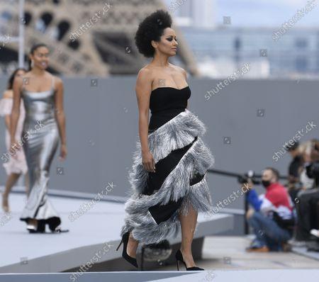 Kat Graham on the catwalk