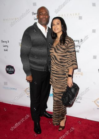 Stock Image of (L-R) Chris Spencer and Vanessa Rodriguez Spencer