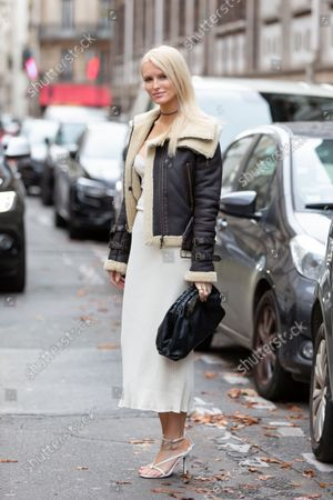 Editorial image of Street Style, Spring Summer 2022, Paris Fashion Week, France - 03 Oct 2021